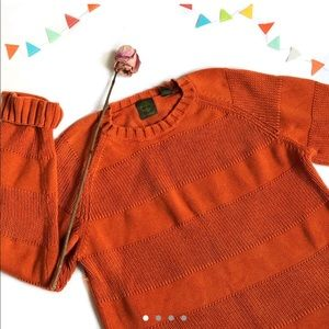 Thick Orange Timberland Cotton Jumper/sweater